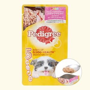 Thức ăn cho chó con Pedigree vị gà nấu sốt túi 130g