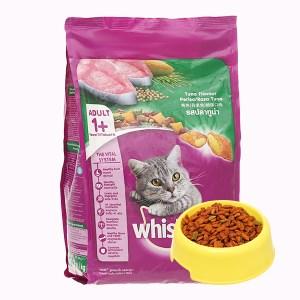 Thức ăn cho mèo lớn Whiskas vị cá ngừ túi 1.2kg