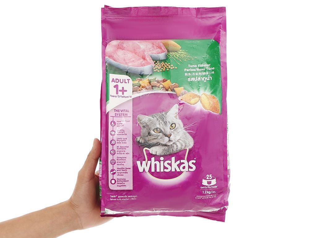 Thức ăn cho mèo lớn Whiskas vị cá ngừ túi 1.2kg 4