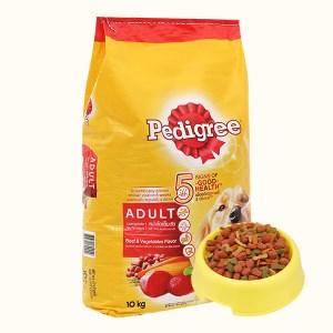 Thức ăn cho chó lớn Pedigree vị bò và rau củ bao 10kg