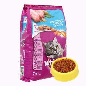 Thức ăn cho mèo lớn Whiskas vị cá biển bao 7kg