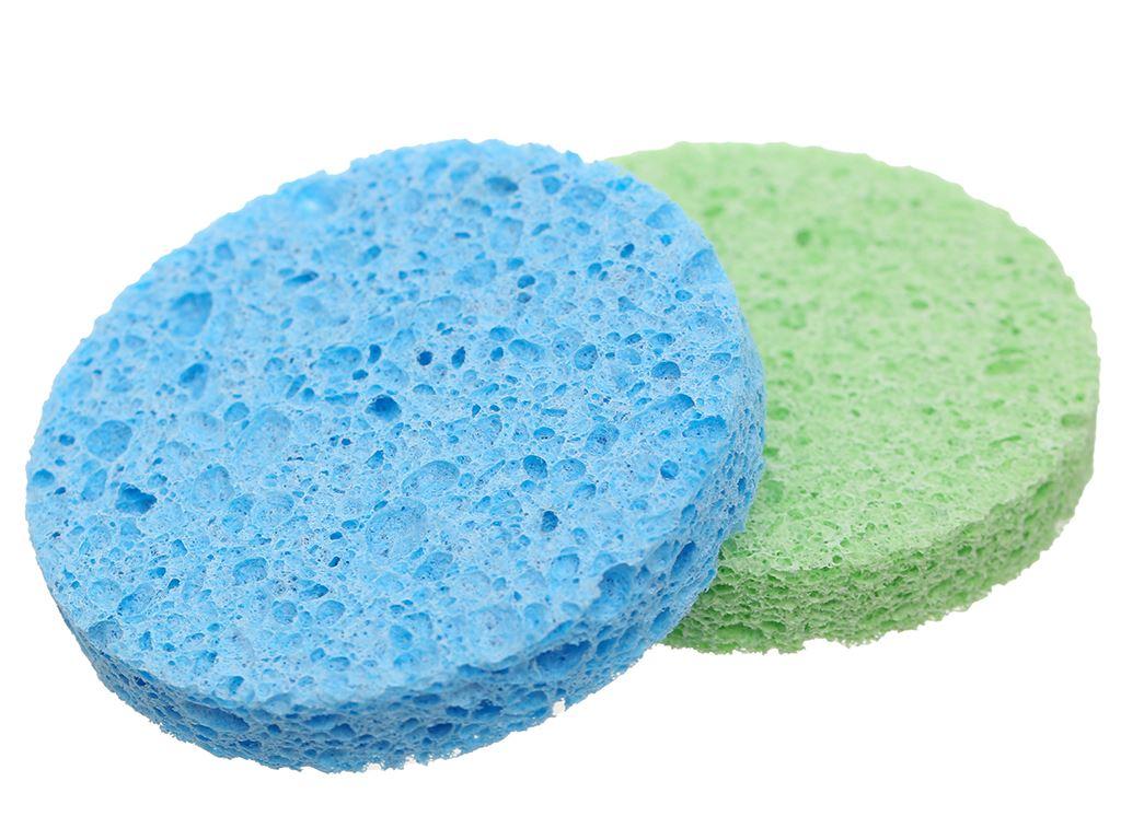 Mút rửa mặt & tẩy trang Cotoneve cao cấp 2 miếng/gói 4