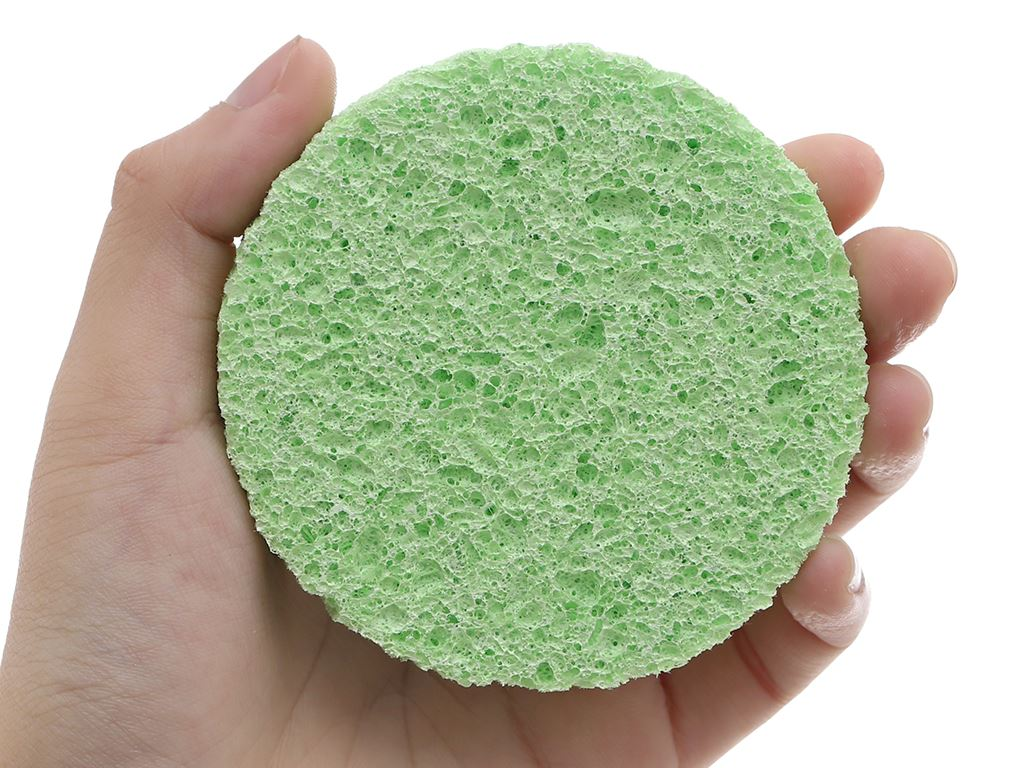 Mút rửa mặt & tẩy trang Cotoneve cao cấp 2 miếng/gói 6
