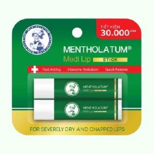 Cặp đôi son dưỡng Mentholatum Medi Lip Stick 2 tuýp x 4.3g