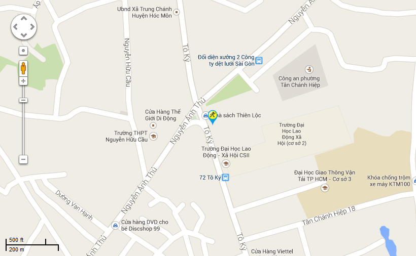 Bản đồ đến siêu thị Điện máy XANH tại 01 Bis Tô Ký, Phường Tân Chánh Hiệp, Quận 12, Thành phố Hồ Chí Minh