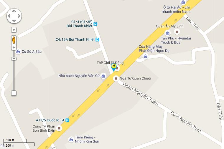 Bản đồ đến siêu thị Điện máy XANH tại C4/21, Khu Phố 3