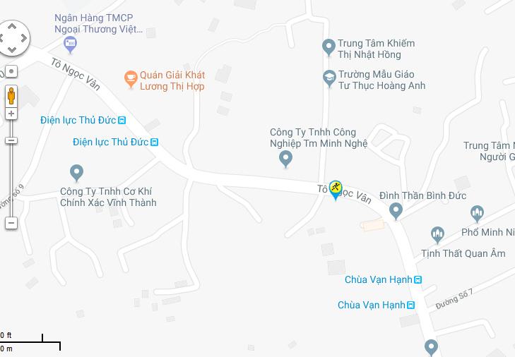 Bản đồ đến siêu thị Điện máy XANH tại 542 Tô Ngọc Vân, Phường Tam Phú, Quận Thủ Đức, Thành Phố Hồ Chí Minh (Kế bên Đình Bình Đức)