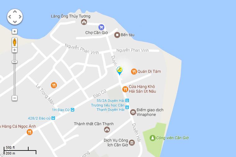 Bản đồ đến siêu thị Điện máy XANH tại 83 Duyên Hải, KP. Hưng Thạnh, TT. Cần Thạnh, H. Cần Giờ, TP.HCM (ngay ngã 3 chợ huyện)