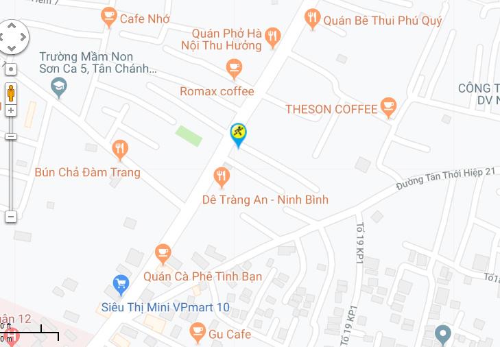 Bản đồ đến siêu thị Điện máy XANH tại 215 Dương Thị Mười, Khu phố 4, Phường Tân Chánh Hiệp, Quận 12, Thành phố Hồ Chí Minh, Việt Nam