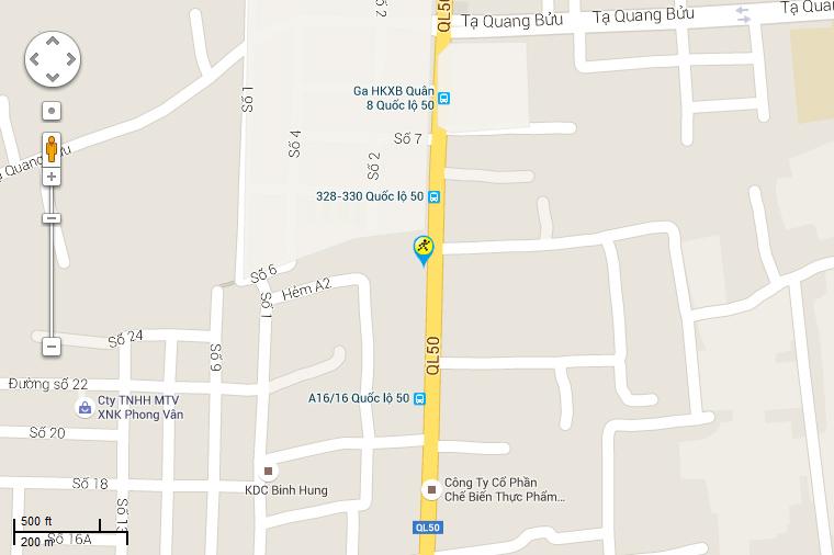 Bản đồ đến siêu thị Điện máy XANH tại A1/9 QL 50, Ấp 2, X. Bình Hưng, H. Bình Chánh, TP.Hồ Chí Minh.