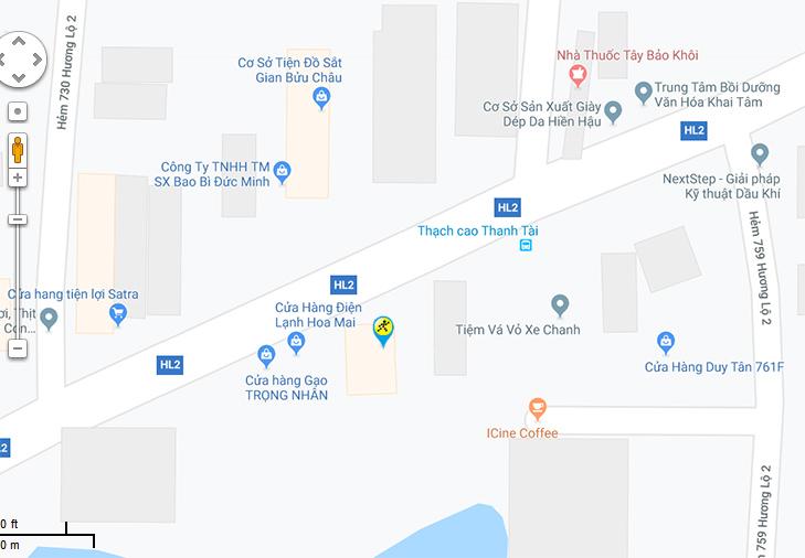 Bản đồ đến siêu thị Điện máy XANH tại 767A Đường Hương Lộ 2, Khu phố 2, P. Bình Trị Đông A, Q. Bình Tân, Tp.HCM