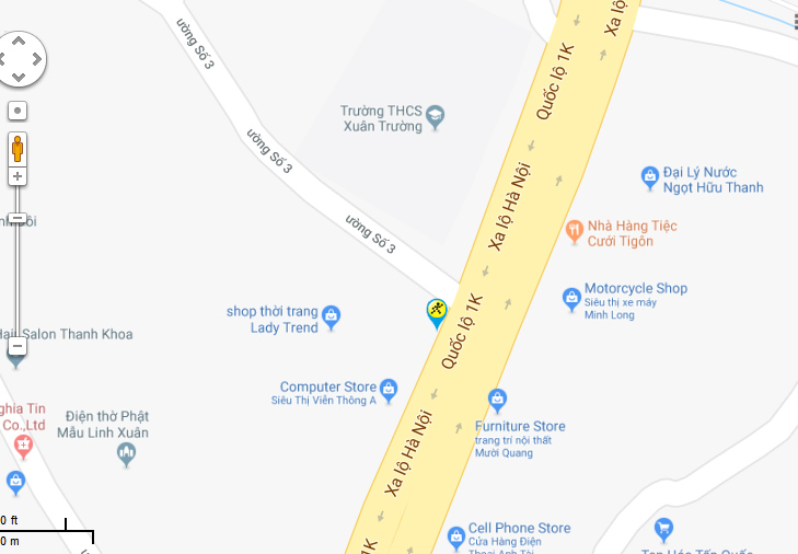 Bản đồ đến siêu thị Điện máy XANH tại 43 Quốc Lộ 1K, Khu Phố 2 , P. Linh Xuân, Q. Thủ Đức, TP.HCM (gần chợ Linh Xuân).