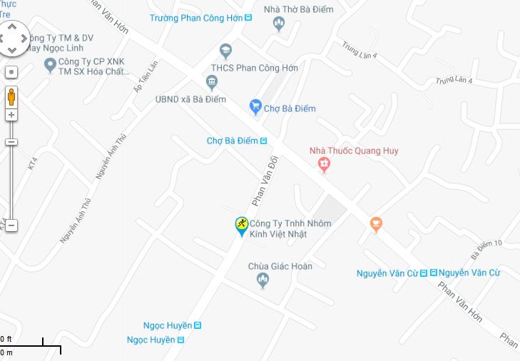 Bản đồ đến siêu thị Điện máy XANH tại 36/3D Phan Văn Đối, Ấp Tiền Lân, Xã Bà Điểm, Huyện Hóc Môn, TP.HCM (ngay Ngã 3 Phan Văn Đối gần chợ Bà Điểm)