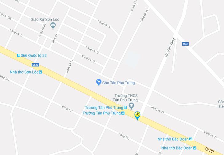 Bản đồ đến siêu thị Điện máy XANH tại Số 271 Quốc Lộ 22, Huyện Củ Chi, TP.HCM