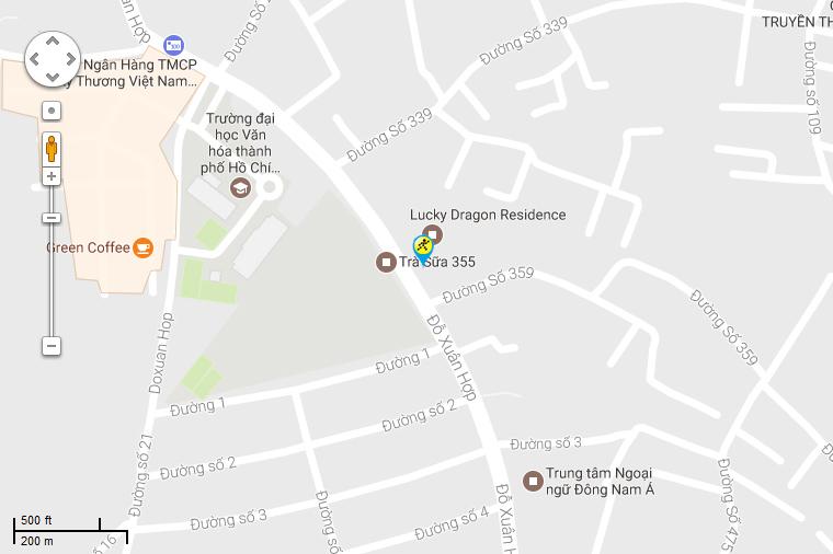 Bản đồ đến siêu thị Điện máy XANH tại 502 Đỗ Xuân Hợp, P. Phước Bình, Q. 9, TP. HCM (Trước Trường Cao đẳng nghề kỹ thuật công nghệ TP. HCM)