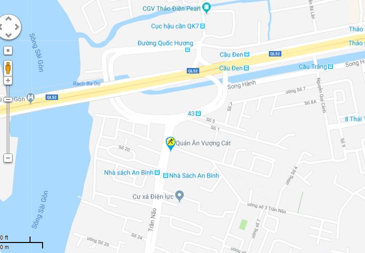 Bản đồ đến siêu thị Điện máy XANH tại 21 Trần Não , Phường Bình An , Quận 2 , TP.HCM (Cách công viên Dạ Cầu Sài Gòn 30m)