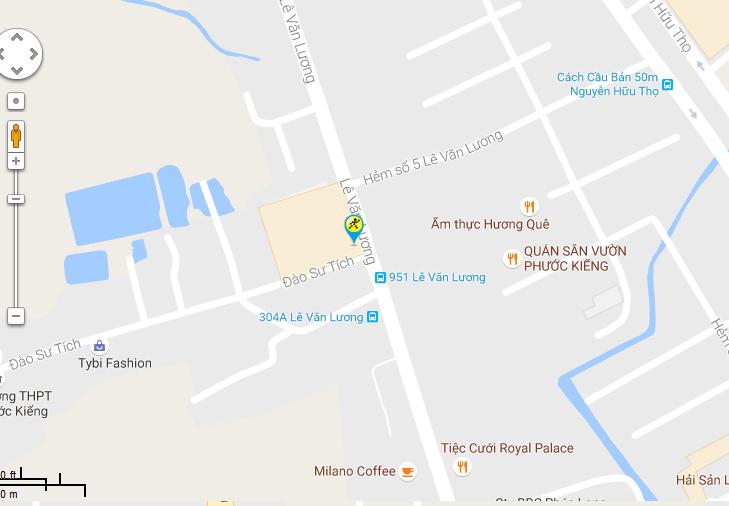 Bản đồ đến siêu thị Điện máy XANH tại 44 Lê Văn Lương, ấp 3, xã Phước Kiển, H. Nhà Bè, TP. Hồ Chí Minh