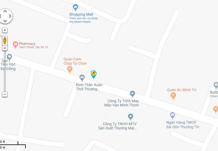 Bản đồ đến siêu thị Điện máy XANH tại 110/5F Phan Văn Hớn, Ấp 5, Xã Xuân Thới Thượng, H. Hóc Môn, TP. HCM (Gần chợ Xuân Thới Thượng - Đối diện Đình).