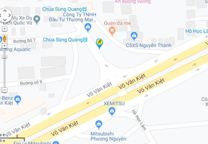Bản đồ đến siêu thị Điện máy XANH tại 314 Hồ Học Lãm, P. An Lạc, Q. Bình Tân, TP. HCM