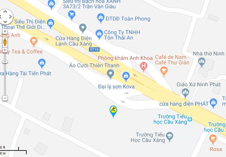Bản đồ đến siêu thị Điện máy XANH tại A4/4 Trần Văn Giàu, Ấp 1, Xã Lê Minh Xuân, Huyện Bình Chánh, TP. Hồ Chí Minh