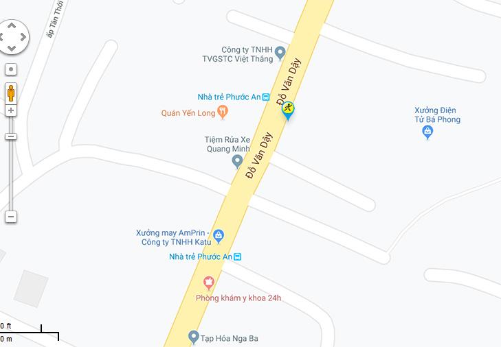 Bản đồ đến siêu thị Điện máy XANH tại 22/3C Đỗ Văn Dậy, Ấp Tân Thới 1, Xã Tân Hiệp, Huyện Hóc Môn, Thành phố Hồ Chí Minh, Việt Nam
