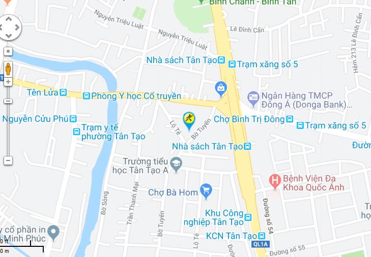 Bản đồ đến siêu thị Điện máy XANH tại 1255 Tỉnh Lộ 10, Phường Tân Tạo, Quận Bình Tân, Thành phố Hồ Chí Minh