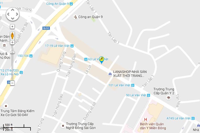Bản đồ đến siêu thị Điện máy XANH tại Số 71 Lê Văn Việt, P. Hiệp Phú, Q.9 , TP. Hồ Chí Minh