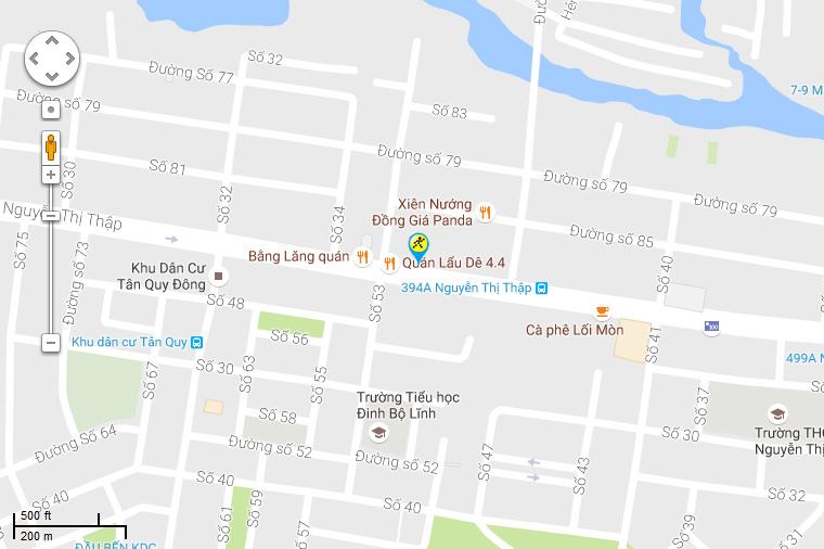 Bản đồ đến siêu thị Điện máy XANH tại Số 428 Nguyễn Thị Thập, P. Tân Quy, Q. 7, TP. Hồ Chí Minh