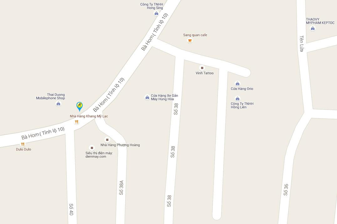 Bản đồ đến siêu thị Điện máy XANH tại 953 Tỉnh Lộ 10, Khu Phố 8, P. Tân Tạo, Q.Bình Tân, TP.Hồ Chí Minh