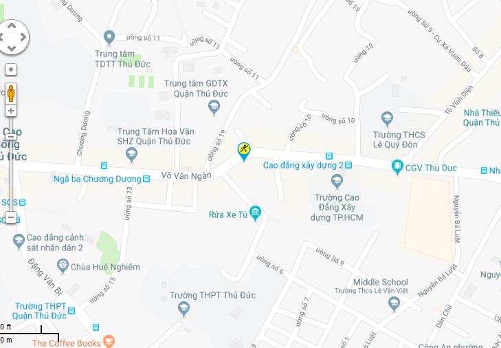 Bản đồ đến siêu thị Điện máy XANH tại 184 Võ Văn Ngân, P. Bình Thọ, Q. Thủ Đức, TP. HCM (gần trường cao đẳng Xây Dựng số 2)