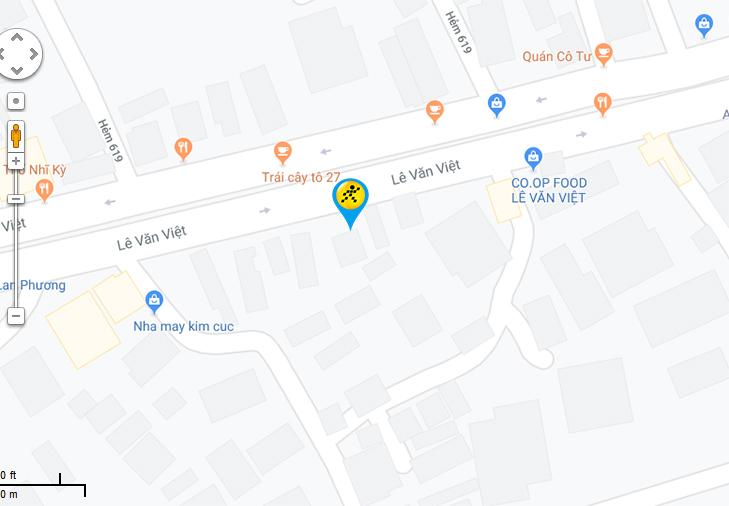 Bản đồ đến siêu thị Điện máy XANH tại 633A Lê Văn Việt , P. Tân Phú , Quận 9, TP.HCM (Ngay ngã 3 Mỹ Thành)