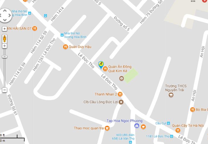 Bản đồ đến siêu thị Điện máy XANH tại Số 1388 Lê Đức Thọ, P.13, Q. Gò Vấp, TP.HCM (Ngay cầu Cụt)