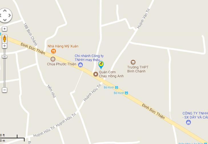 Bản đồ đến siêu thị Điện máy XANH tại D12/23B Đinh Đức Thiện, ấp 4, X. Bình Chánh, H. Bình Chánh, TP.HCM