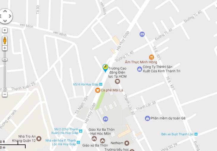 Bản đồ đến siêu thị Điện máy XANH tại Số 597 Hà Huy Giáp, KP.03, P. Thạnh Xuân, Q.12, TP.HCM (Đối diện trường CĐ Điện Lực)