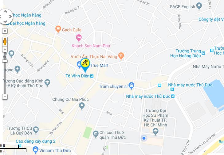 Bản đồ đến siêu thị Điện máy XANH tại 196 Hoàng Diệu 2, Phường Linh Trung, Q. Thủ Đức , TP.HCM (cách ngã tư Tô Vĩnh Diện 500m)