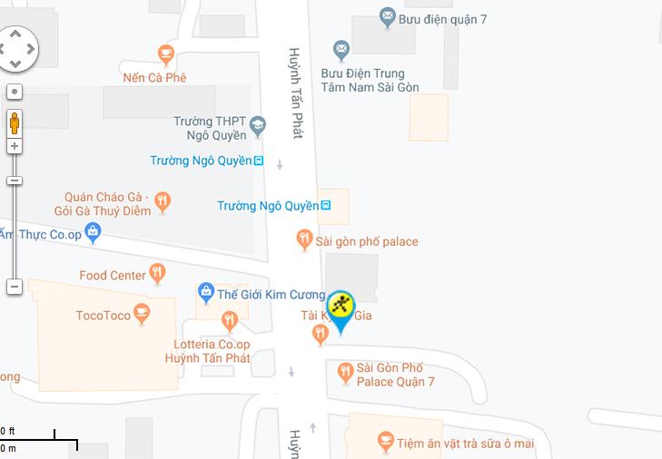 Bản đồ đến siêu thị Điện máy XANH tại 1521 đường Huỳnh Tấn Phát, phường Phú Mỹ, quận 7, Tp. Hồ Chí Minh.