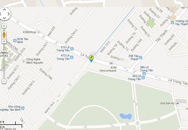 Bản đồ đến siêu thị Điện máy XANH tại 451 Lê Trọng Tấn, P.Sơn Kỳ, Q.Tân Phú, TP.HCM