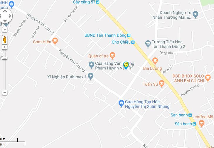 Bản đồ đến siêu thị Điện máy XANH tại 417 Tỉnh Lộ 15, X. Tân Thạnh Đông, H. Củ Chi, TP. HCM