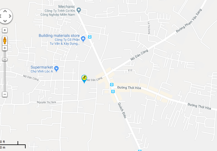 Bản đồ đến siêu thị Điện máy XANH tại C2/5 Quách Điêu, Ấp 3, X. Vĩnh Lộc A, H. Bình Chánh, TP. HCM (Ngã ba Quách Điêu - Thới Hoà (Đường số 7)).