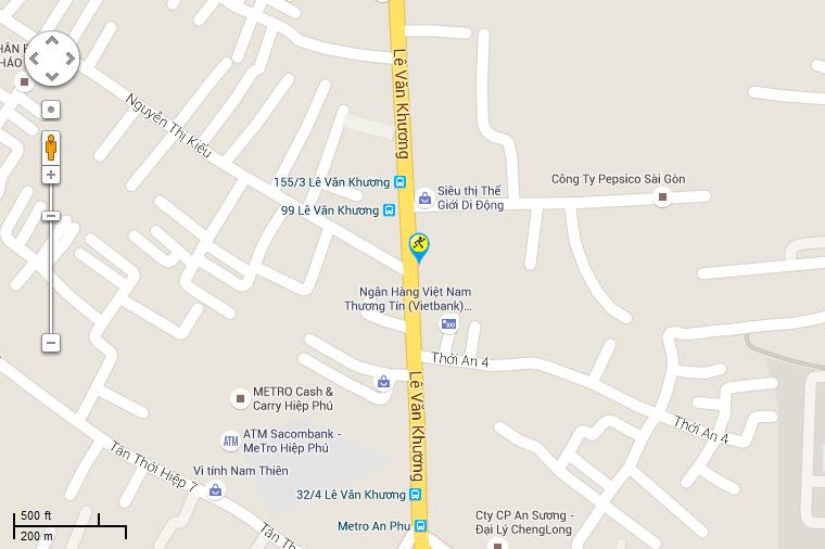 Bản đồ đến siêu thị Điện máy XANH tại 102 Lê Văn Khương, Khu Phố 1, Phường Thới An, Quận 12, Thành Phố Hồ Chí Minh