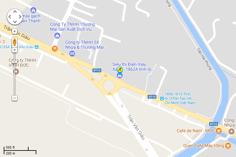 Bản đồ đến siêu thị Điện máy XANH tại Số 1826A Tỉnh Lộ 10, khu phố 1, P. Tân Tạo, Q. Bình Tân, TP. HCM