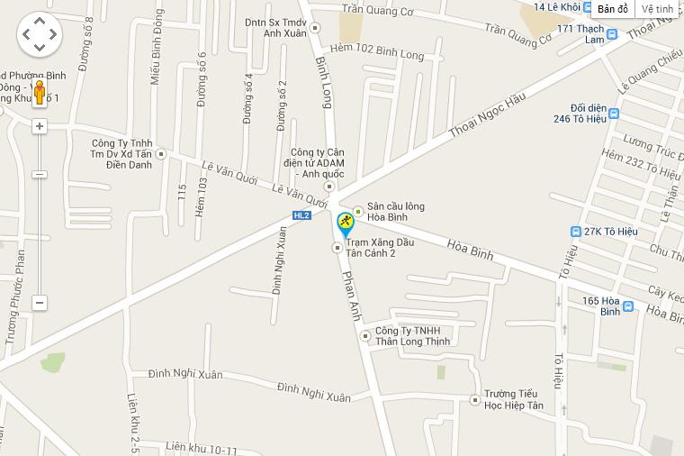 Bản đồ đến siêu thị Điện máy XANH tại 265 Hòa Bình, Phường Hiệp Tân, Quận Tân Phú, Thành Phố Hồ Chí Minh