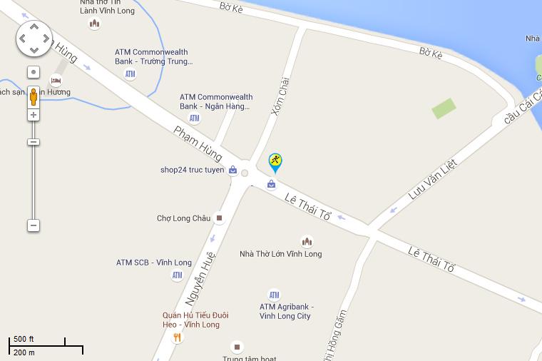 Bản đồ đến siêu thị Điện máy XANH tại 210 Lê Thái Tổ, Phường 2