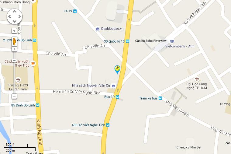 Bản đồ đến siêu thị Điện máy XANH tại 561 Xô Viết Nghệ Tĩnh, Phường 26, Quận Bình Thạnh, Thành Phố Hồ Chí Minh