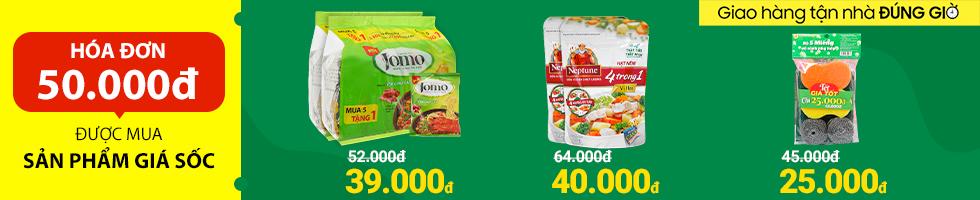Bách Hoá XANH - Hoá đơn 50k mua được sản phẩm giá gốc