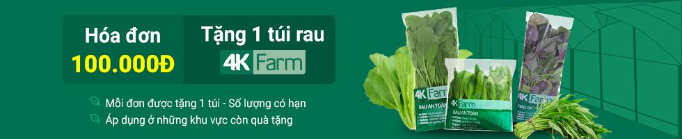 RAU AN TOÀN 4K FARM TẶNG