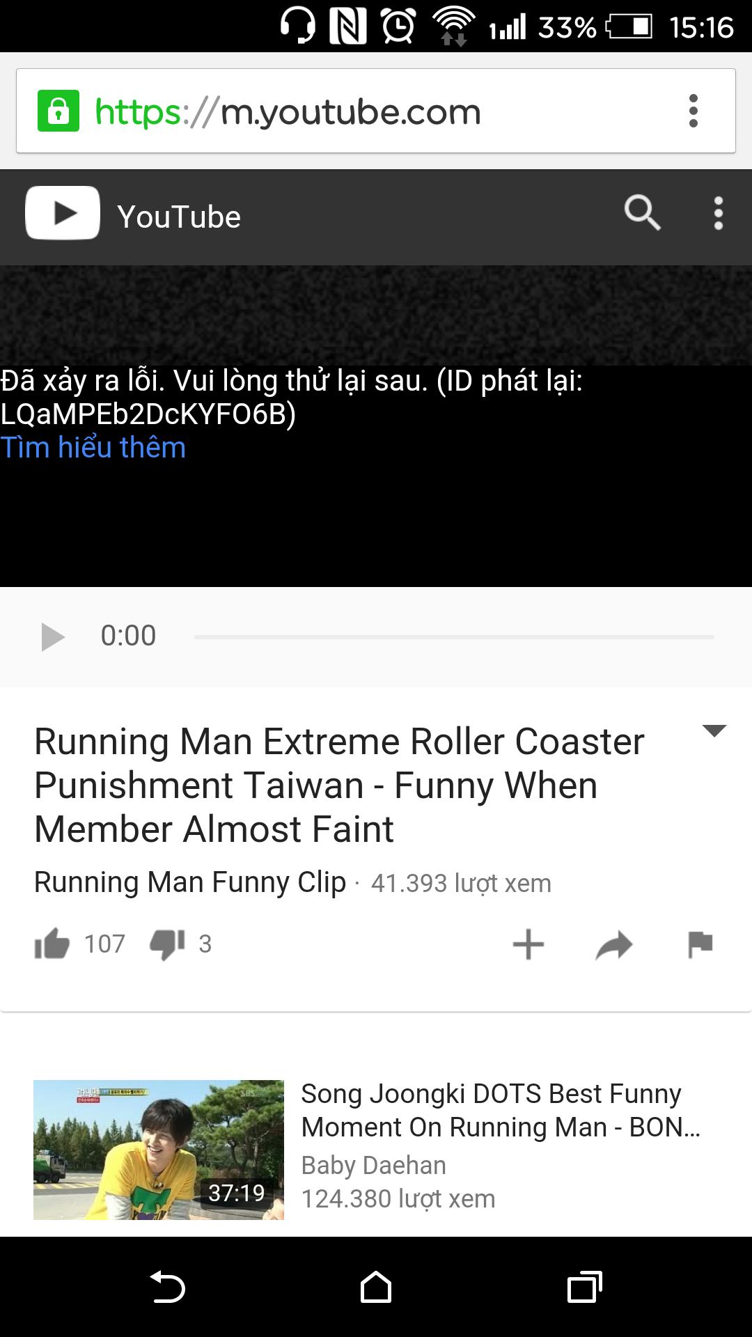 2 ngày nay đt e nó cứ không cho coi clip trên f - Thegioididong com