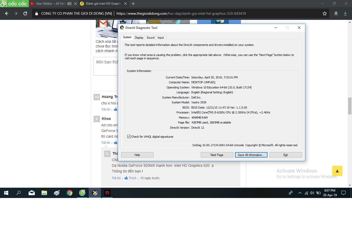 Đánh giá Intel HD Graphics 520? - Thegioididong com