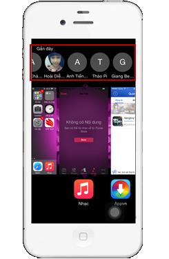 Cách tắt hiển thị liên hệ gần đây khi mở ứng dụng chạy ngầm trên iOS