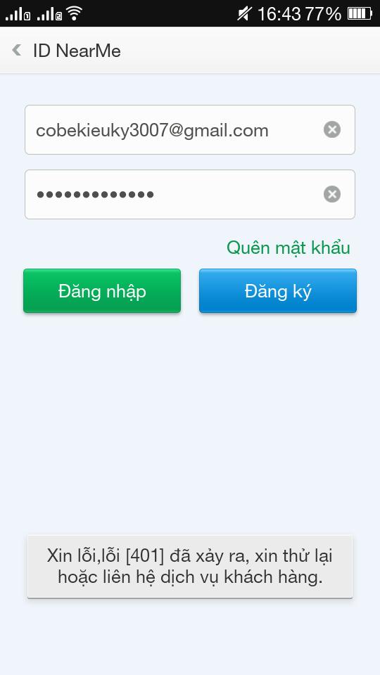 hướng đăng ký tài khoản O-Cloud - Thegioididong com